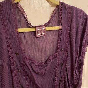Free People Purple Blouse